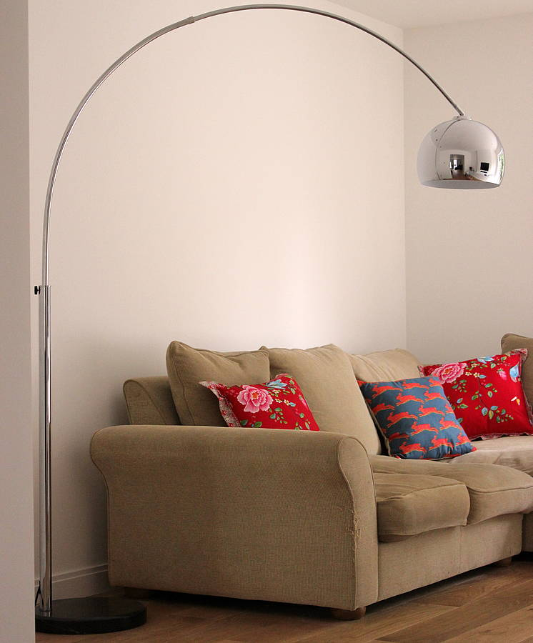 Fabulous chrome arc lamp by the forest co notonthehighstreet fabulous chrome arc lamp mozeypictures Image collections