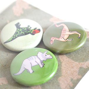 Dinosaur Badges Set Of Three - women's jewellery