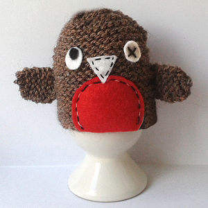 Wonky Robin Egg Cosy Craft Kit - gifts for knitters
