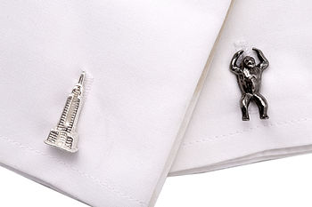 King Kong Sterling Silver Cufflinks