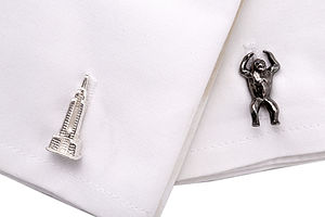 King Kong Sterling Silver Cufflinks - men's accessories