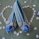 Traditional Woollen Greek Slippers