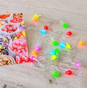 Mini Neon Light Garland - lights & candles