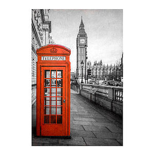 London Red Telephone Box Print - architecture & buildings