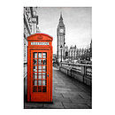 London Red Telephone Box Print