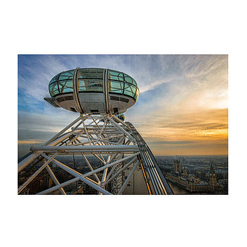 London Eye Sunset Print
