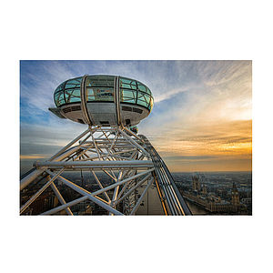 London Eye Sunset Print - architecture & buildings