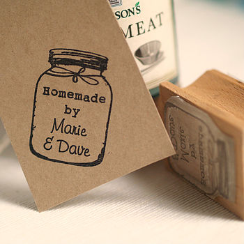 Personalised 'Homemade By' Jar Rubber Stamp