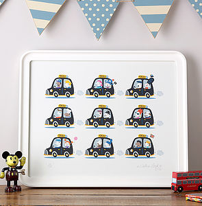London Taxis Print
