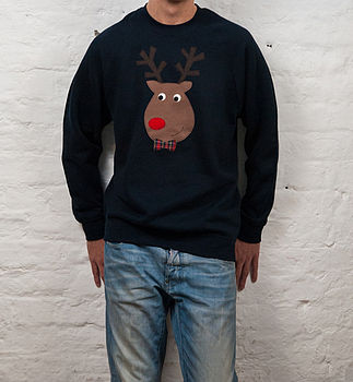Men's Novelty Reindeer Christmas Jumper