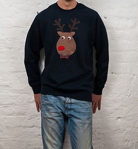 Men's Novelty Reindeer Christmas Jumper - christmas jumpers & fancy dress