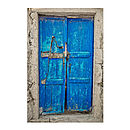 Santorini Blue Door Print