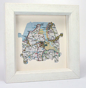 Camper Van Personalised Map Artwork