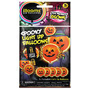 Halloween Pumpkin Light Up Balloons -5 Pk