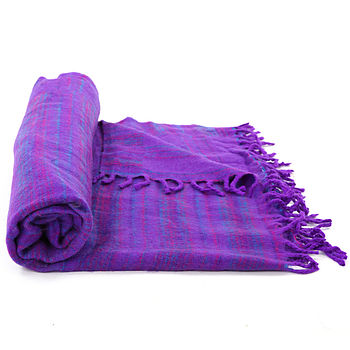 Purple Snuggle Blanket/Shawl