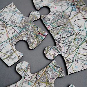 Four Personalised Postcode Map Coasters - placemats & coasters