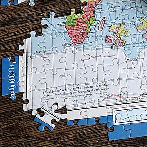 Personalised World Map Jigsaw Puzzle - toys & games
