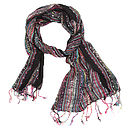 Black Ladies Woven Scarf