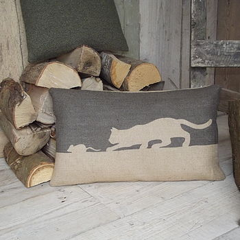 ' Cat And Mouse ' Cushion