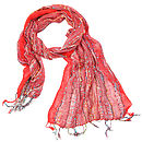 Red Ladies Woven Scarf