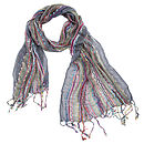 Grey Ladies Woven Scarf