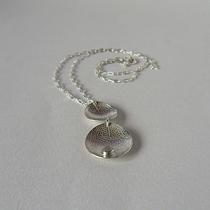White Topaz Dewdrop And Silver Leaf Necklace