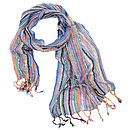 Blue Ladies Woven Scarf
