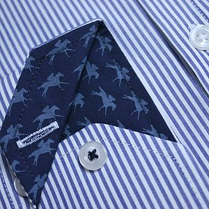 Striped Epsom Horse And Rider Shirt - men's fashion