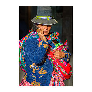 Cusco Woman One, Peru Print - people & portraits