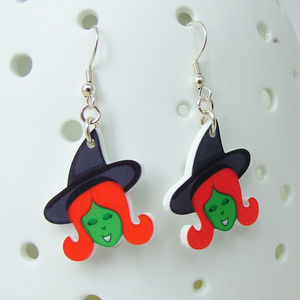 Wicked Witch Halloween Acrylic Earrings