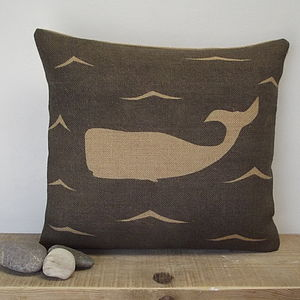 Moby Dick The Whale Cushion - cushions
