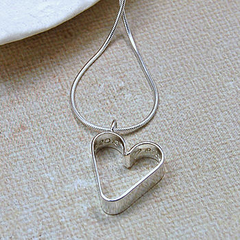 Girls Personalised Secret Heart Necklace
