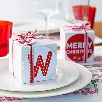 Alternative Christmas Gift Box With Labels