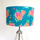 Bright Floral Fabric Lampshade