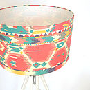 Ikat Fabric Lampshade