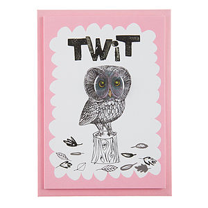 'Twit' Card With Badge - view all gifts
