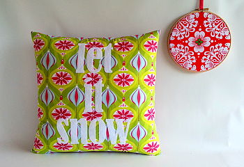 'Let It Snow' Christmas Cushion