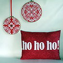 'Ho Ho Ho!' Christmas Cushion