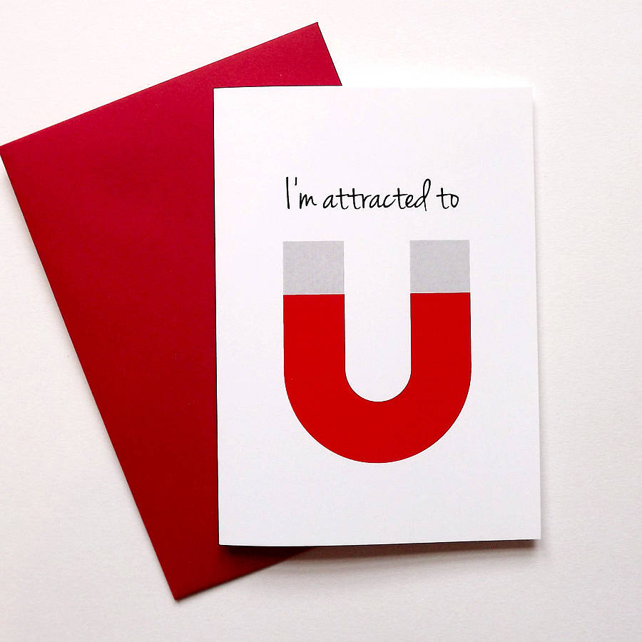 Fun anniversary card 39 i 39 m attracted to you 39 by hello dodo How to make a valentine card for your girlfriend