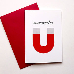 Fun Anniversary Card 'I'm Attracted To You' - personalised cards