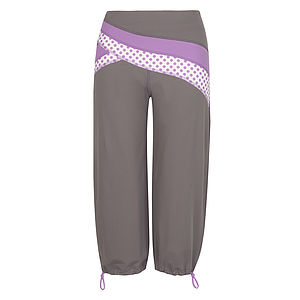 Hertford Dotty Polka Flash Capri Pant - activewear