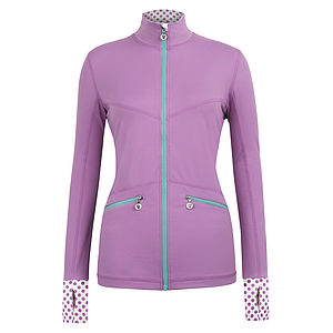 Hertford Dotty Polka Flash Jacket - lounge & activewear