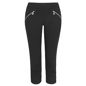 Brunswick Satin Ruche Crop Legging - lounge & activewear