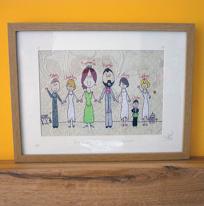 Group Wedding Picture - personalised art