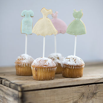 Set Of Four Bridesmaid Cake Toppers