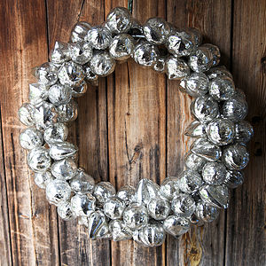 Glass Bauble Christmas Wreath - room decorations