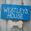 Pet House Sign_Bright Blue