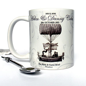 Dream Boat Personalised Wedding Mug