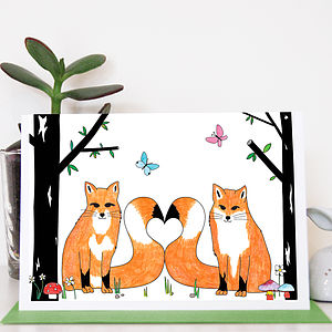 Love Foxes Greeting Card - anniversary cards
