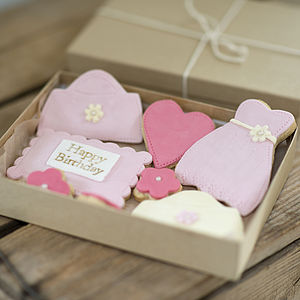 Birthday Cookie Gift Box - biscuits